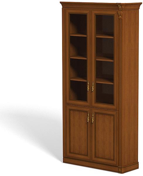 Шкаф-секция центральный со стеклянными дверями - pandora-meb.
